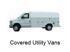 Covered Utility Vans